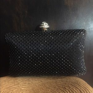 Jet Black  Clutch Handbag,